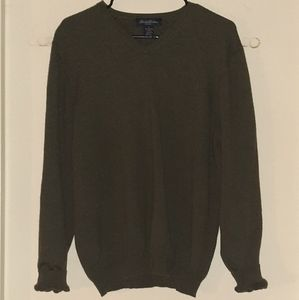 Brooks Brothers V-neck Sweater Green Men's XL
